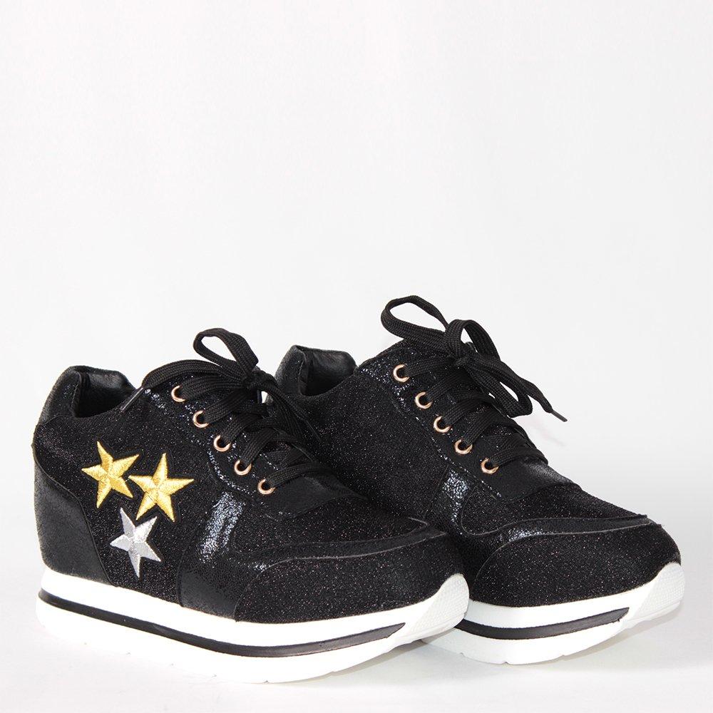 bb0c417137f Дамски обувки на платформа със звездички Vendemi обувки онлайн