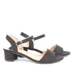 Дамски сандали на нисък ток велур