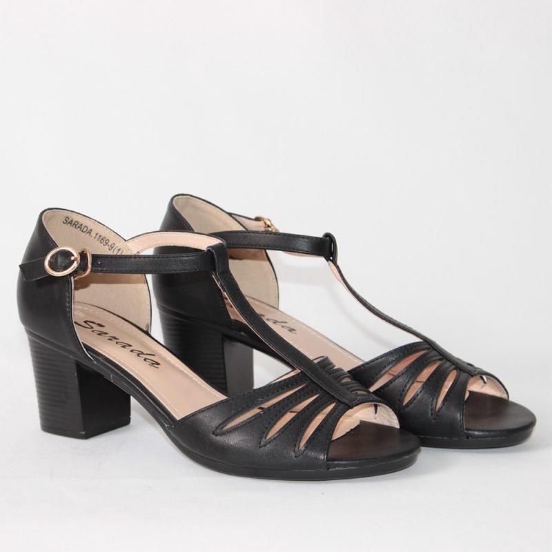 damski sandali na sreden tok s peta cherni 800x800 - Обувки Онлайн VenDemi
