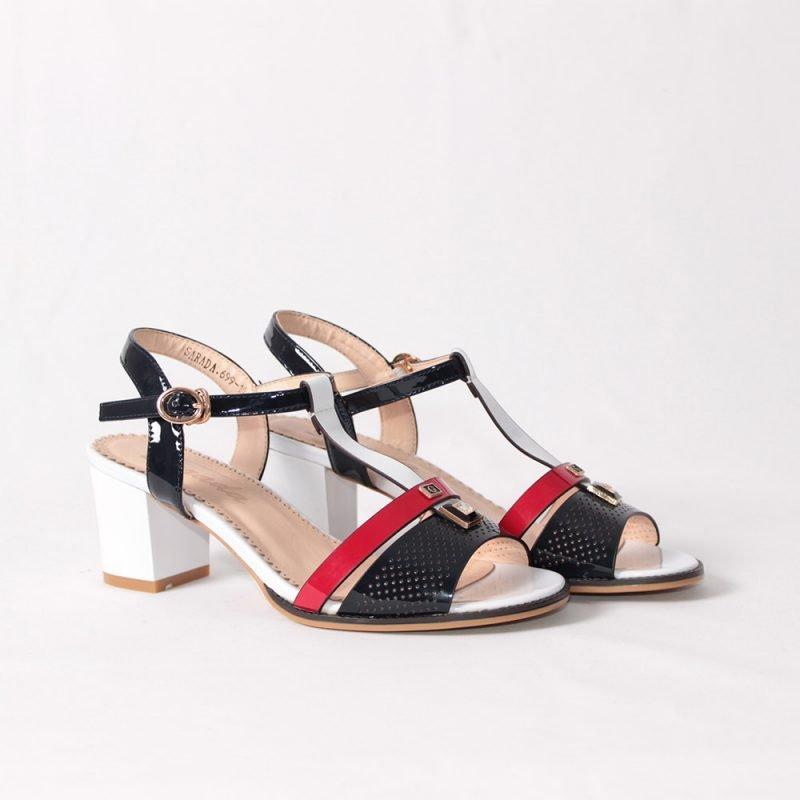 damski sandali tamno sini na tok 800x800 - Обувки Онлайн VenDemi