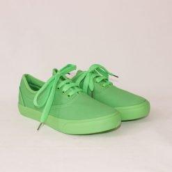 Дамски гуменки от плат зелени
