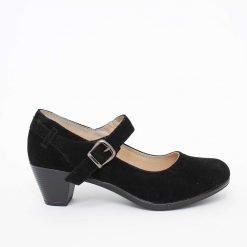 Дамски велурени обувки на ток