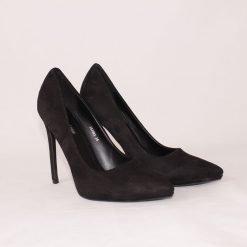 Черни високи дамски обувки