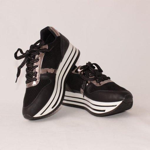 Дамски маратонки на платформа черни