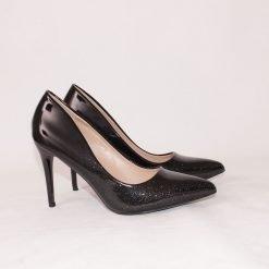 Дамски обувки с тънък ток черни