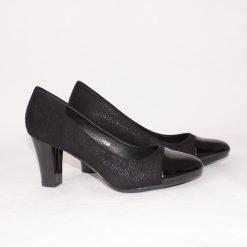 Официални дамски обувки на среден ток черни