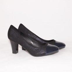 Официални дамски обувки на среден ток сини