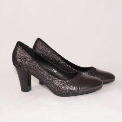 Официални дамски обувки на среден ток сиви