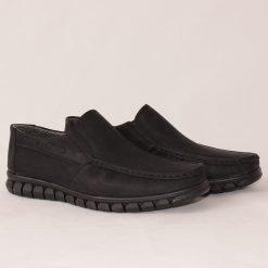 Черни ежедневни мъжки обувки без връзки