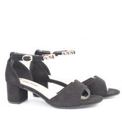 Дамски сандали нисък ток с лента