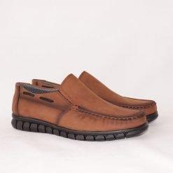 Кафяви ежедневни мъжки обувки без връзки