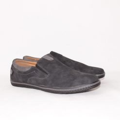 Мъжки черни обувки без връзки