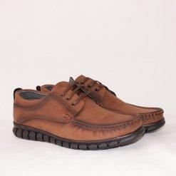 Мъжки обувки с дебело ходило кафяви
