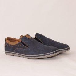 Мъжки сини обувки без връзки