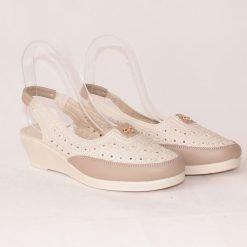 Бежови дамски обувки без пета