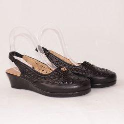 Черни дамски обувки без пета