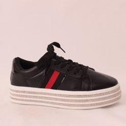 Дамски черни обувки спортни