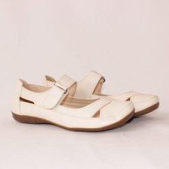 Равни дамски обувки летни бежови