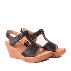 Дамски сандали висока платформа черни