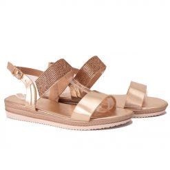 Дамски сандали с камъчета златисти