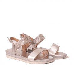 Дамски сандали с камъчета сребристи