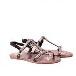 Дамски сандали с ластик черни