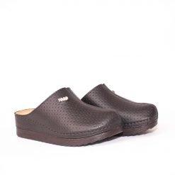 Черни равни дамски чехли