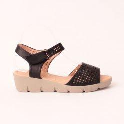 Дамски сандали на дебело ходило черни