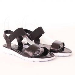 Дамски сандали равни черни