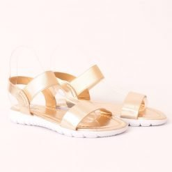 damski sandali ravni zlatisti 247x247 - 6 модни тенденции, които ще освежат вашето лято през 2019 г.