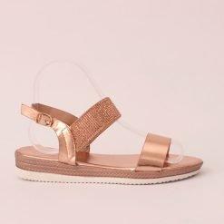 Дамски сандали с камъчета розови