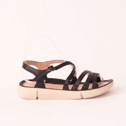 Равни дамски сандали черни