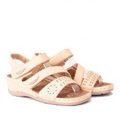 Дамски ежедневни сандали бежови