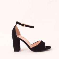 Дамски сандали с пета от велур