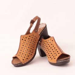 Жълти дамски сандали