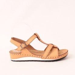 Ортопедични дамски сандали бежови