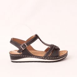 Ортопедични дамски сандали черни