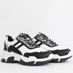 Бяло черни дамски маратонки