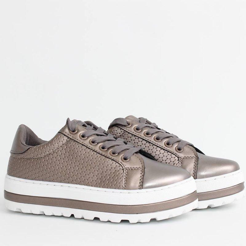 Дамски сиви спортни обувки