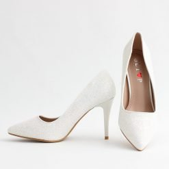 Бели официални дамски обувки