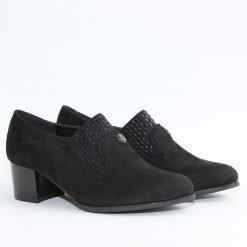 Дамски обувки черен велур