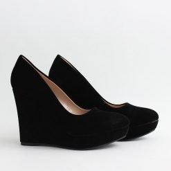 Дамски обувки на платформа велур