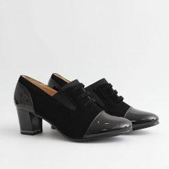 Дамски обувки велур и лак
