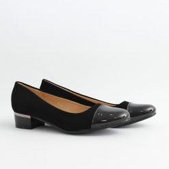 Дамски обувки велур нисък ток