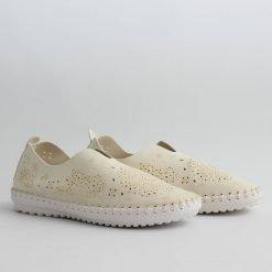 Бежови равни дамски обувки