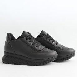 Черни дамски обувки дебело ходило