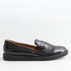 Черни лачени ниски дамски обувки