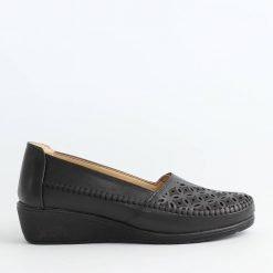 Дамски обувки черна платформа