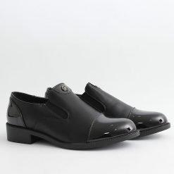 Дамски обувки черни равни