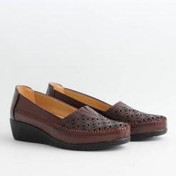 Дамски обувки платформа бордо